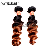 Wholesale Ombre Weave For Sale - Hot Sale 7A Grade 100% Virgin Brazilian Loose Wave Two Tone Ombre Fumi Hair Bohemian Curls Extension Hair For Cheap 2pc Queen Wave