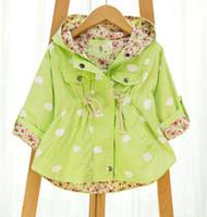 Wholesale Cotton Batting Wholesale - Autumn Jackets For girls New Korean version Brand Fashion Clouds Bat shirt Coat 5pcs lot Children Hoodies