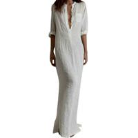 Wholesale Black Paisley Maxi Dress - S5Q Women Spring And Autumn Elegant Sexy Long Evening Party Dress Shirt Dresses AAAFVA