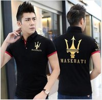 Wholesale Black Maserati - MASERATI EXCELLENCE THROUGH PASSION l Short sleeve T-shirt Top Cotton Mercedes F1 Men T shirt New DIY Style Maserati shirt