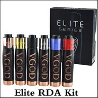 Wholesale rda mod set for sale - Group buy Top quality Elite Series kit V god RDA with Thread Crest Design Deep Set elite mechanical mod mm RDA colors kit