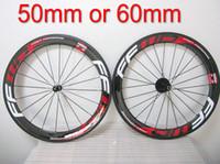 Wholesale folding bike carbon wheels resale online - Hot Sell Ffwd mm Clincher Tubular Red Bicycle Wheels Fast Forward c Carbon Bike Racing Wheelset