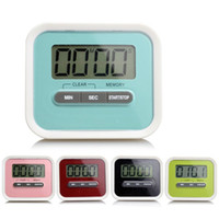 Wholesale Clip Timer Wholesale - Timer Kitchen Cooking 99 Minute Digital LCD Alarm Clock Medication Sport Countdown Calculator timers with Clip Pad