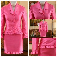 Wholesale Orange Pink Pagent Dress - 2017 Formla Girls Pagent Dresses Two Pieces Long Sleeves Prom Ball State National Beauty Kids Pageant Interview Suit Party Wear
