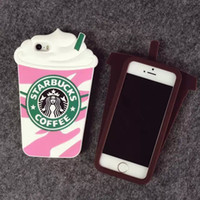 Starbuck Case Coffee CUP Caso de telefone de silicone para iPhone 5 5S iPhone 6s 6S Plus Cute Cell Phone Cover Frete grátis