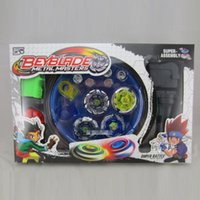 Wholesale New Beyblade Sets - Wholesale- New Classic Toys Beyblade Metal Spinning Top Gyroscope 4 Beyblade For Sale Alloy Gyro Plate Kit Beyblade Sets Free Shipping