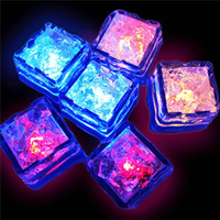 Wholesale Iced Events - Water Sensor Sparkling LED Ice Cubes Luminous Multi Color Glowing Drinkable Decor for Event Party Wedding Wholesale 0708079