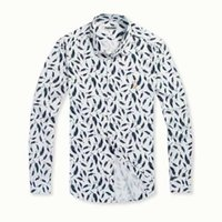 Wholesale Long Comfortable Dresses - PollyDuke 2016 fashion unique design print pattern breathable comfortable men dress shirt Slim fit long sleeve casual shirt turn down collar