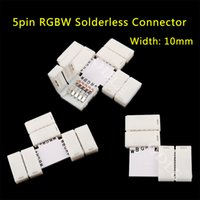 Wholesale pin LED Strip Clip pin RGBW RGBWW LED Strip Connector For mm width RGB W RGB WW Light Strips