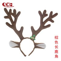 Wholesale masquerade hair accessories - 2017 Christmas Headbands Hair Accessories Decorations Antlers Party Hair Bands Masquerade Decoration Free shipping E1675