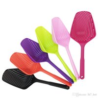 Wholesale Plastic Soup - Practical Strainer Spoon Miss Bubble A Separator Scoop Bottom Thickening Ladles Cartoon Colander Soup Spoons Not Easily Deformed Filter