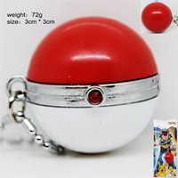 Wholesale Wholesale Fairy Charms - Poke Ball Poke Ball Necklace PokeBall Fairy Ball Pendants Poke Monster Pendants Poke monster Toys Gifts