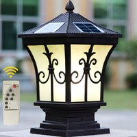 Wholesale Outdoor Post Home Lighting - Solar power led post lights super bright outdoor waterproof garden lights LED solar lights home post lamps outdoor villa deck yark