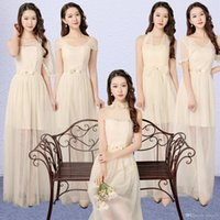 Wholesale Bridesmaid Party Dress Woman - 4 colors 5 patterns Size US2-US8 Women clothing sexy gown party sisters long Bridesmaid dress for wedding