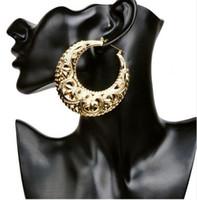 Wholesale Basketball Wives Fashion Jewelry - Wholesale- 2017 femal basketball wives earrings hoop gold plate fashion girl jewelry ER007
