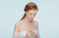Wholesale Mature Model Sexy - super beauty Simple red handmade bridal jewelry models hair band headdress wholesale elegance Mature and sexy accessories headband