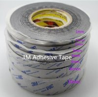 Wholesale 3mm adhesive tape - Promotion! 1mm 1.5mm 2mm 3mm*50M 9448A Black Double Sided Adhesive Tape for Mobile Phone Touch Screen LCD Display Glass