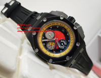 Wholesale Battery Makers - Luxury AAA High Quality Watch N8 Factory Maker Black PVD Case 44mm 26290IO.OO.A001VE.01 VK Quartz Chronograph Working Mens Watch Watches