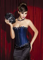 Wholesale Strapless Wedding Corset Slim - Emboridery Flowers Body Shape Red Royal Blue Lace Up Corset Strapless Overbust Slim Wedding Accessories On Sale