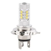ampoules à phare au xénon achat en gros de-H4 80W Cree LED lampe de brouillard de voiture h4 led phare ampoule auto lumières voiture led ampoules voiture source de lumière parking 12V 6000K xénon blanc