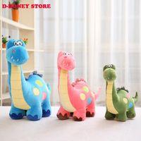 Wholesale Dinosaur Plush - 2016 The Good Dinosaur 35cm Green Dinosaur Stuffed Animals Plush Soft Toys for kids gift free shipping