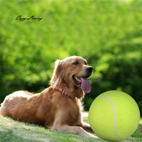 Wholesale Orange Tennis Balls - Interactive Toy Dog 1 PC 24CM Giant Tennis Ball For Pet Chew Toy Big Inflatable Supplies Outdoor Toys Sporty Wholesale JA1