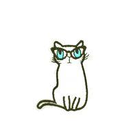 apliques de hierro gato al por mayor-10 PCS Gato Parches Bordados para Niños Ropa de Hierro en la Transferencia Applique Patch para Bolsos Jeans DIY Coser Bordado Pegatina