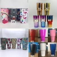Wholesale Print Mugs - 30oz CamoTumblers Bilayer Stainless Steel Mug Vacuum Insulated Cup Skull Camouflage Folral Printed Travel Coffee Beer Cups CPG001