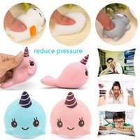 Wholesale Toy Whale Wholesale - 9CM Soft Whale Cartoon Squishy Slow Rising Squeeze Toy Phone Straps Fashion Mall