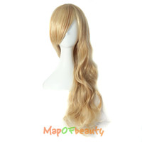 parrucche Nautral Cosplay ondulate lungo MapofBeauty lungo ondulata colore marrone chiaro biondo marrone colori 50cm Costume Party Heat Resistant Synthetic ...