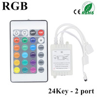 24Keys 44 touches IR Remote Controller RGB LED Dimmer 12V 6A 2 ports Pour 5050 3528 SMD RGB LED bande