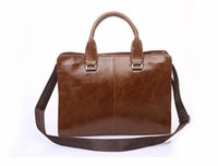 Wholesale Men S Casual Shoulder Bag - The new men 's bag shoulder Messenger business briefcase retro bag   men' s handbags   men briefcase