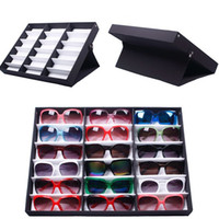 Wholesale Eyewear Tray - 18 Grids Eyewear Sunglasses Jewelry Watches Display Storage Case Tray