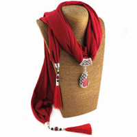 Wholesale Cheap Peacock Necklaces - Newest Cheap Fashion Ladies Scarf Direct Factory Tassel Neckerchief Women Peacock Drop Necklace Hood Scarves From China