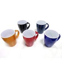 Wholesale Blue Ceramic Mugs - Ceramic Custom Coffee Mug Cup With Matching Spoon Handle Milk Tea Juice Mug Customizable Cup Wholesale Purchasing Support
