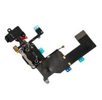 carga del muelle iphone 5s al por mayor-Cable flexible del puerto de carga para el iphone 6 6S más 6plus 5 5S 5c auriculares Conector de audio Puerto USB Puerto de acoplamiento conector de acoplamiento flex