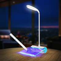 Wholesale Nickel Plates For Battery - Newest Design Rechargeable Desk Lamp LED Light with Message Board Touch Switch Best Gift for Students Kids