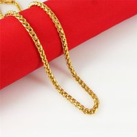 Collier Rope 24k jaune hommes d'or conception 24