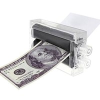 Wholesale Money Makers - Wholesale- New Hot 1PC Magic Trick Money Printing Machine Money Printings Machines Moneys Makers Free Shipping