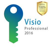Wholesale Pc Key Codes - Visio Pro Professional 2016 PC Software activation Key Product Code Download 32 64 Bits Global