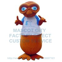 Wholesale Alien Carnival Costumes - alien mascot costume brown alien mascot custom cartoon character cosply carnival costume 3381