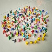 Wholesale Japanese Children Figures - Japanese cartoon 114pcs set Poke cute Action Figures model toys for children PVC multicolor nice gift