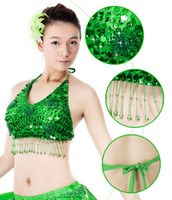 Wholesale Bollywood Top - Best Dance Hot sale Sexy Arabic Adult Belly Dance Professional Bra Top Outfit Bollywood Carnival Show Bras