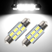 Wholesale Dome Shell - 36mm 6SMD 5630 Canbus Error Free LED Bulb Festoon Lights License Plate Aluminum Shell Dome Reading Light