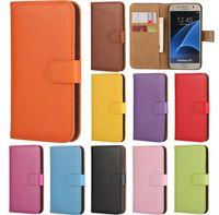 Wholesale Iphone 4s Case Woven - Plain Weave Flip Wallet Cases Wallet Stand Flip TPU Leather Cases for Iphone 6 7 plus 4S 5 5C 5S SE Samsung note 5 7 s6 s7 edge s5