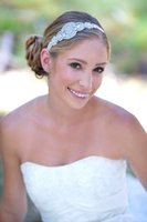 Wholesale Wedding Ribbon Crystal Headband - Wedding Headband Hair Band Headband Wedding Bridal Hair Accessories Women Headpieces Headwear Vintage Hair Band