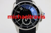 Wholesale Dresses Back Luxury - new Luxury automatic caliber black rubber band glass back sport sapphire quality big dial mens dress watches