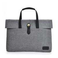 Wholesale- Fashion Solid Unisex Briefcases Simple Business package for women Sac à main Laptop 14 Inch Notebook Computer Bags homme Porte-documents
