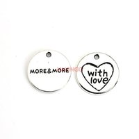 Wholesale Tibetan Love Heart Charms - 12pcs Tibetan Silver Plated Heart with Love Charms Pendants for Necklace Bracelet Jewelry Making DIY Handmade 20mm
