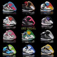 Wholesale Mars Sons - kids Retro 3.5 Spike Lee Black White Blue Gary Yellow Oreo Son of Mars boys girls Basketball Shoes size:28-35